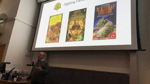 Workshop on Medievalism and Games Industry with Ian Livingstone, founder of Games Worshop.