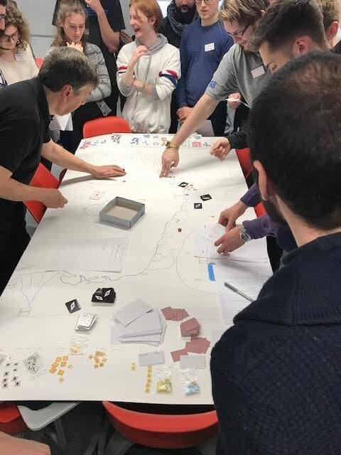 Students interacting with the First Crusade by using a megagame in the undergraduate course The Crusades and Medieval Society